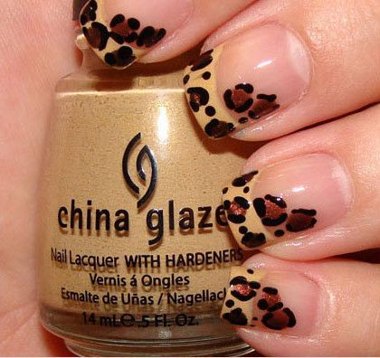 leopard french manicure. DONE!