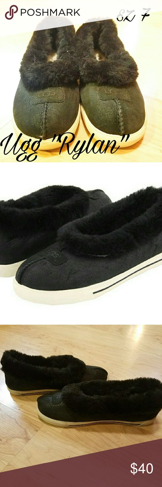 Ugg Rylan slip on shoes sz 7 Brand: Ugg Style: Rylan Size: Women's 7  Super comfy slipper upper with outdoor soles. Shearling and suede. Light signs of normal wear, tons of life left! UGG Shoes Flats & Loafers