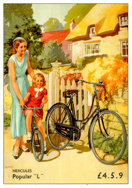 Vintage cycling advertising by Mark Gell, via Flickr