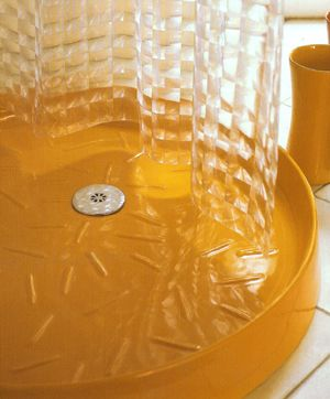 NIC Design Victoria, bathroom shower trays, in various colours. A shower drain set is available as an option
