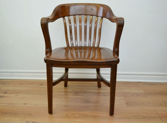 Vintage Solid Hardwood Chair by Canelly on Etsy, $400.00