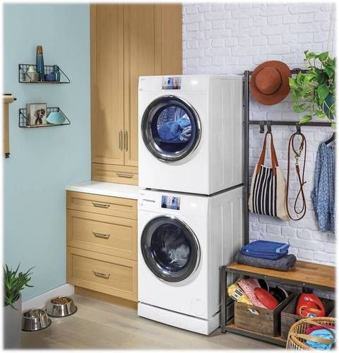 Ge Washer Dryer Laundry Pedestal White Gaf140ssnww Laundry