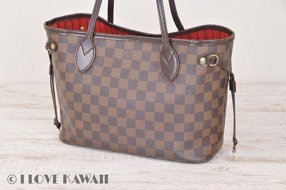 Louis Vuitton Damier Ebene Neverfull PM Tote Shoulder Bag N51109
