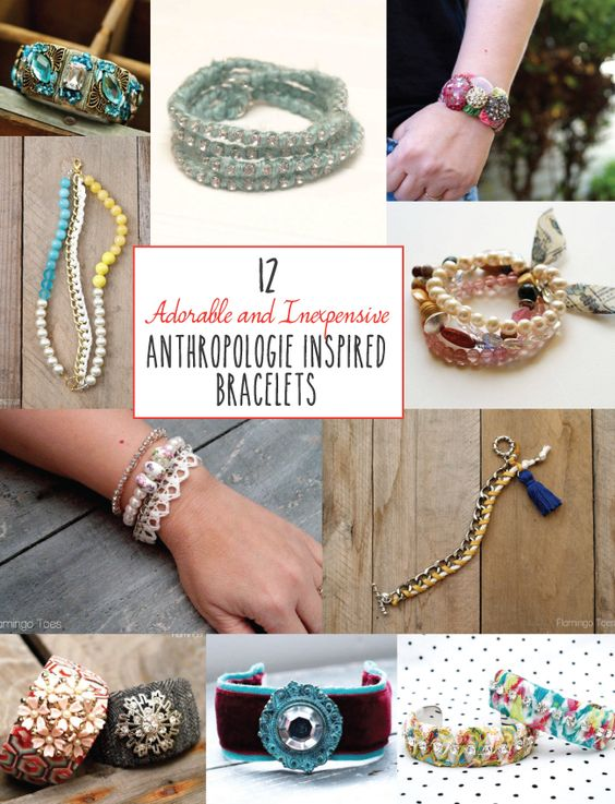 12 Adorable Anthropologie Inspired Bracelets