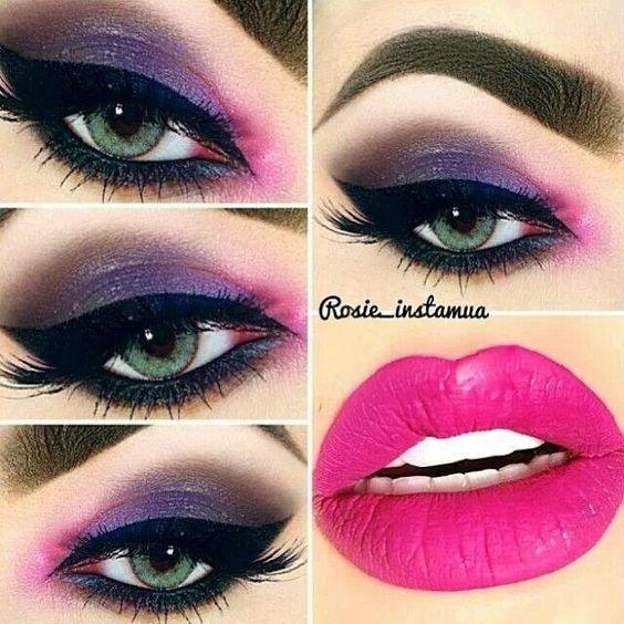 Maquillaje fucsia