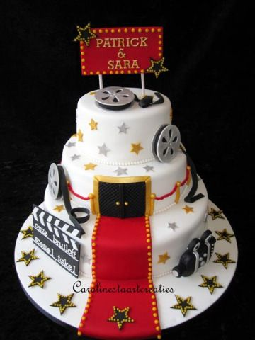 red carpet, movie sweet 16 cake
