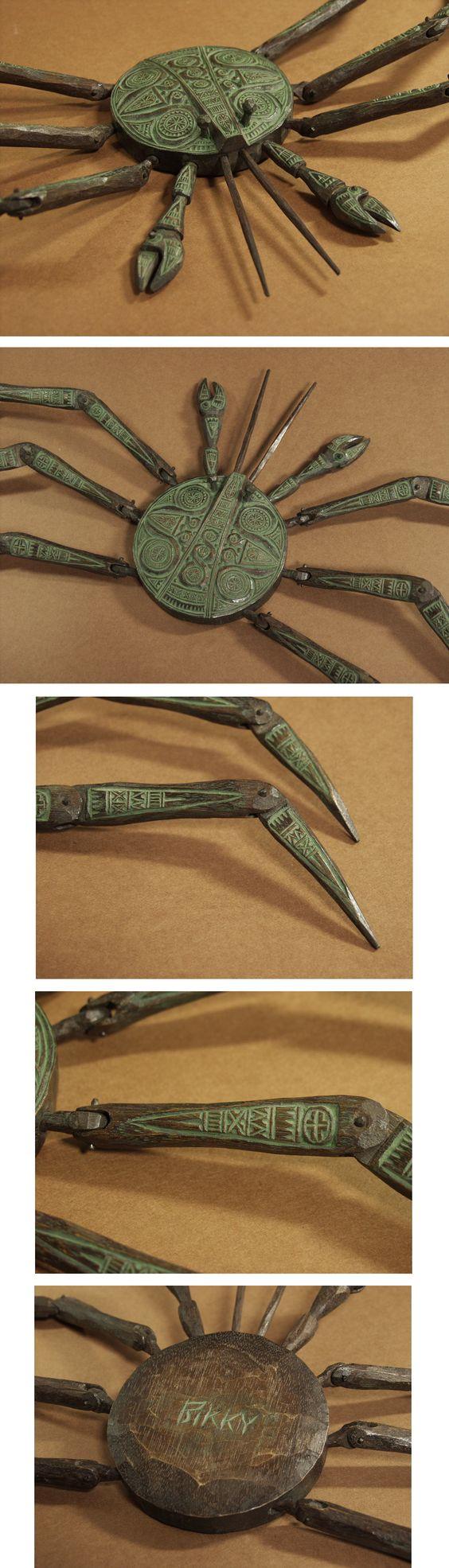 ■砂澤ビッキ 木彫作品 「樹蟹(かに)」 アイヌ彫刻の傑作です■ - ヤフオク!