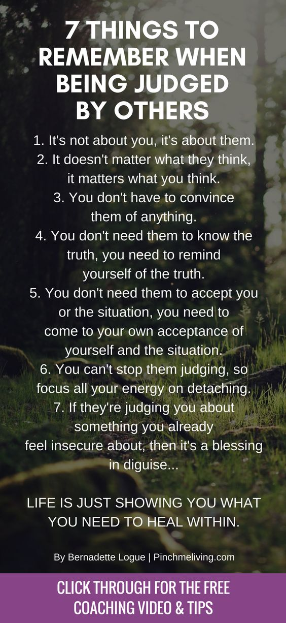 Being judged by others can be painful. We can't control what others say and do, but we can control the meaning we give to it and our response. Click through for the full blog of tips to remember when being judged PLUS download your free Confidence Affirmations Audio https://www.pinchmeliving.com/being-judged/