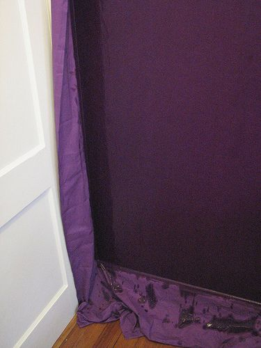 Using Starch To Quot Wallpaper Quot A Wall With Fabric