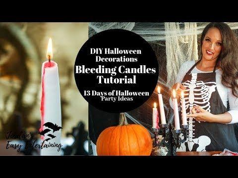 2020 Halloween Youtube Easy Bleeding Candle Halloween Decoration Tutorial   YouTube in