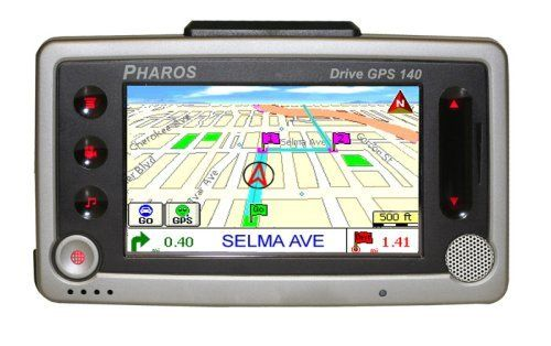 """Pharos Drive 4-Inch Bluetooth Portable GPS Navigator by Pharos. $179.99. GPS DRIVE GPS 140 ALL-IN-ONE 4"""""""