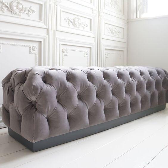 Velvet Chesterfield Bench Velvet Colors And French Bedrooms