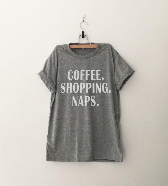 Kaffee einkaufen Nickerchen Tshirt Tumblr Grafik Tees von CozyGal