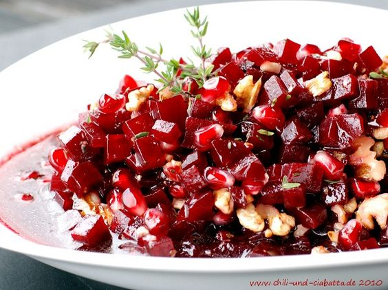 rote bete granatapfel salat 365 salate oder mehr pinterest salat und ciabatta. Black Bedroom Furniture Sets. Home Design Ideas