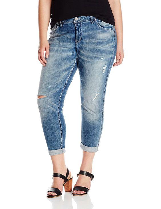 Silver Jeans Women's Plus Size Destructed Boyfriend * Awesome ...