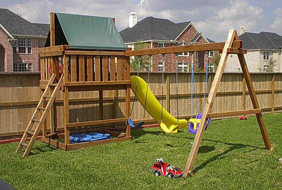 Swing set plans do it yourself wood swing sets plans a for Do it yourself swing