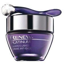 Avon Renew Platinum Olhos e Lábios Creme Anti-Idade 15g 51377-6
