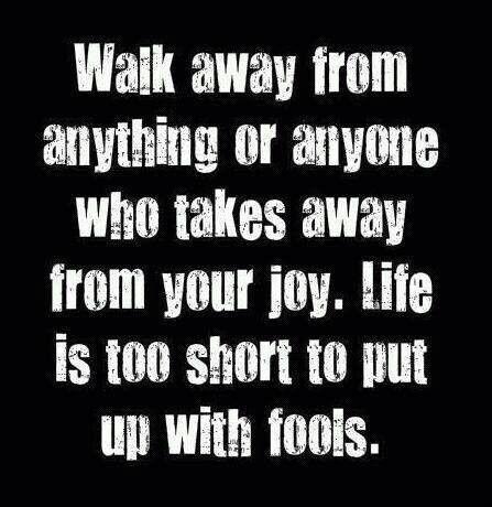 Walk away . . .