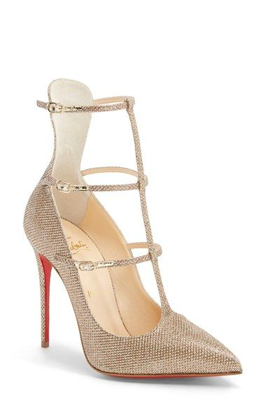christian shoes for men - Women's Christian Louboutin 'Toeless' Caged Pointy Toe Pump, 4 ...
