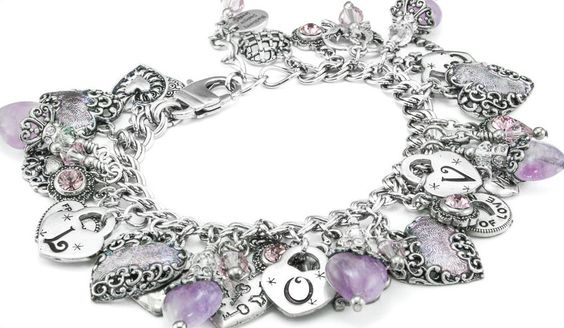 $148___  Silver Amethyst Bracelet Amethyst Gemstone by BlackberryDesigns