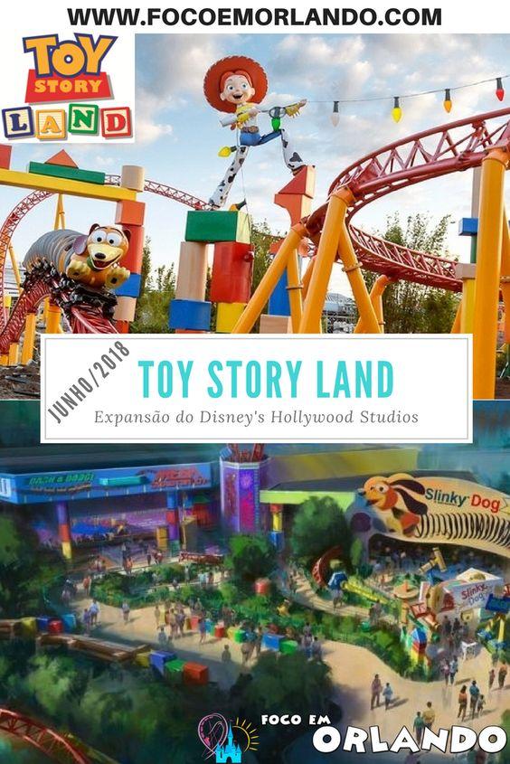 Pinterest - Toy Story Land inaugura em junho de 2018