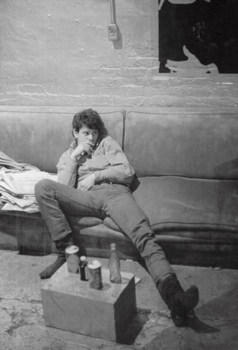 Lou Reed in Andy Warhol's Factory, 1960's.