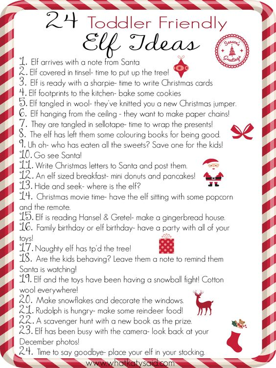 Do you have a Christmas elf? If you are stuck for ideas then here are 24 simple toddler friendly ideas for December. Plus a handy free printable!