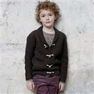 Boy's Shawl Collar Cardigan, 30% Wool on www.laredoute.com