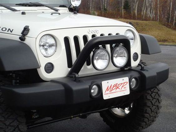 the new grille guard / light bar for our jeep (on someone else's jeep)...can't wait until it's installed
