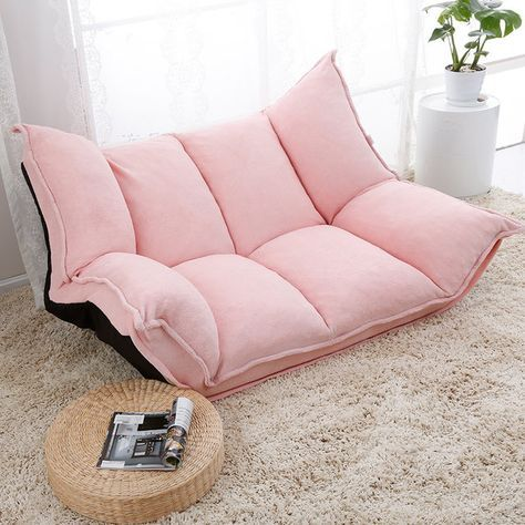 Online Shop Adjustable Fabric Folding Chaise Lounge Sofa Chair Floor Couch Living Room Furniture Sofa Daybed Sleeper Floor Couch Chaise Lounge Sofa Lounge Sofa