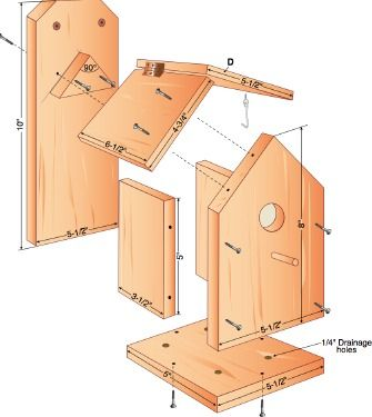 free build your own birdhouse plans.  hate the partiotic design/colors on this website but like the idea.  Make it your own!
