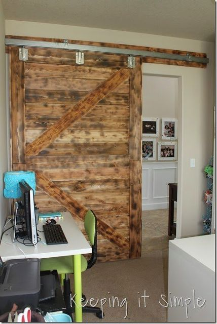 Pinterest the world s catalog of ideas for Barn doors for home office