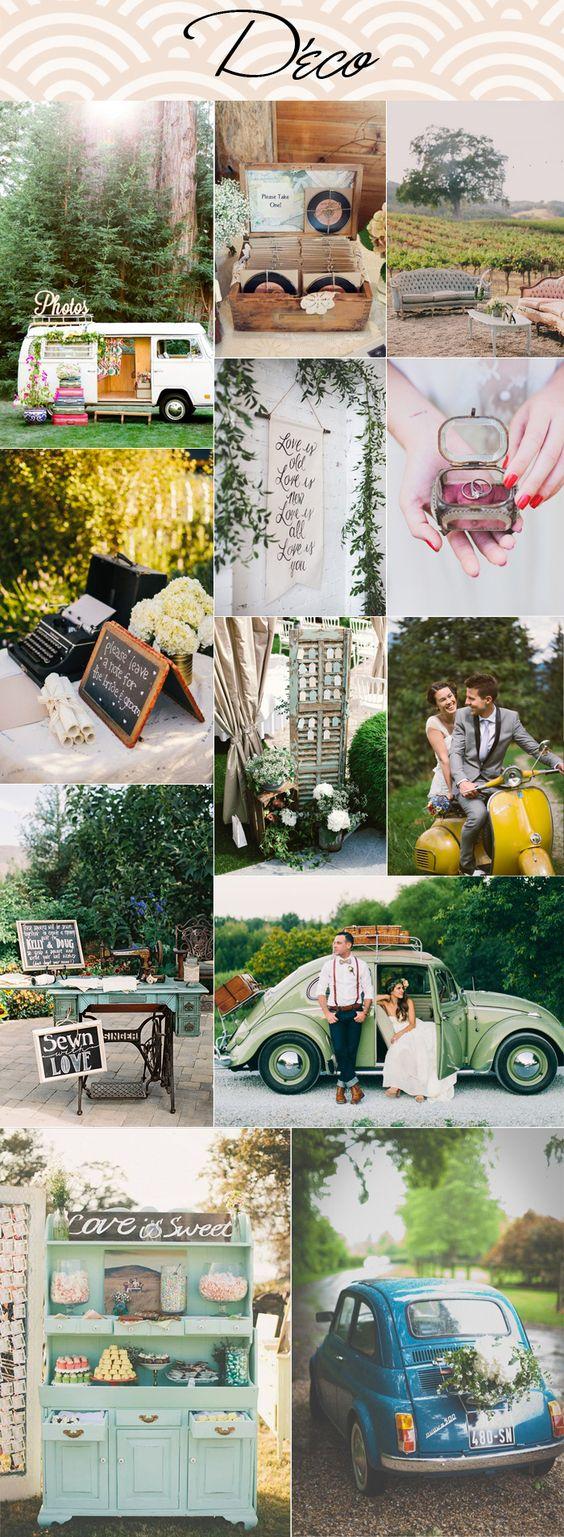 Mariage vintage tableau d 39 inspiration d co id e pour la for Coccinelle decoration exterieure