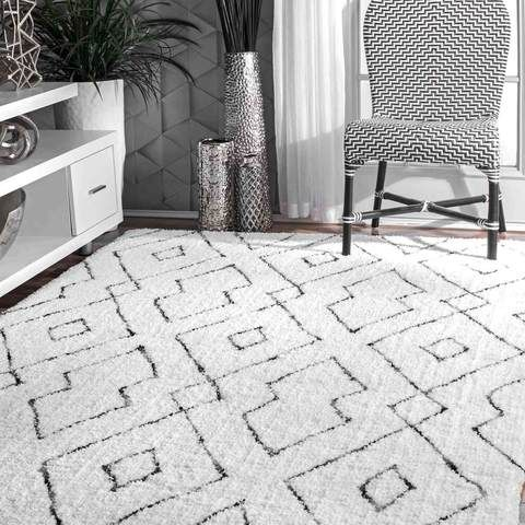Soft And Plush Diamond Lattice Shag Area Rug Dorm Room Rugs Dormify Shag Area Rug