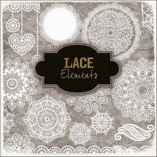 Lace Elements freebie -  Lots of beautiful freebies!!