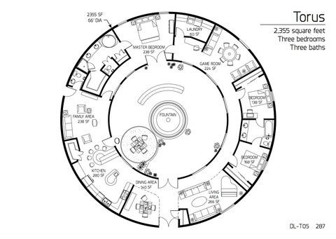 "AWESOME Dome Home floorplan    Monolithic Marketplace — Construction Drawings-DL T05 ""Torus"":"