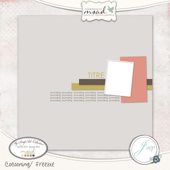 free 1 photo digital scrapbooking page layout template