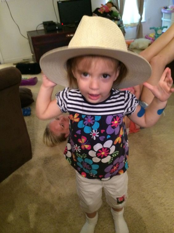 My granddaughter, Aurora. Just being Rory!