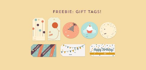 Free birthday gift tags printable