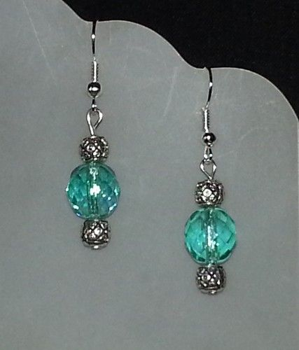 beaded earrings- love the color!