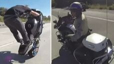Bully bikers shoo away cop who tries to pull them over   Fox News Video
