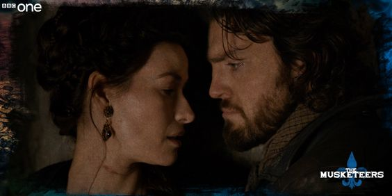 Either Milady wants exfoliation from Athos's bristles… or she's moving in for the kiss. #DontDoItAthos #TheMusketeers
