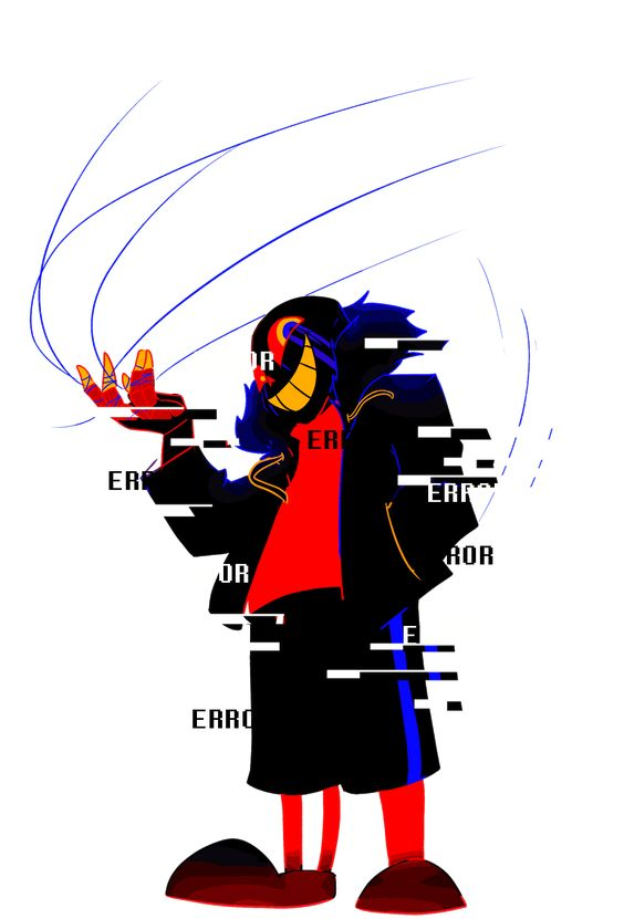 Error!Sans by ms-wabbit  Well I don't really like him, cuz he's a meanie but, he can be nice!
