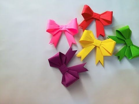 Step By Step Instructions How To Make Origami A Ribbon. Stock ... | 360x480