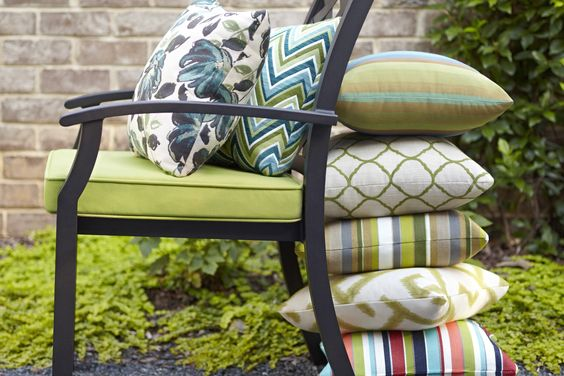 You can never have too many outdoor throw pillows! Choose from plenty of fun allen + roth designs.