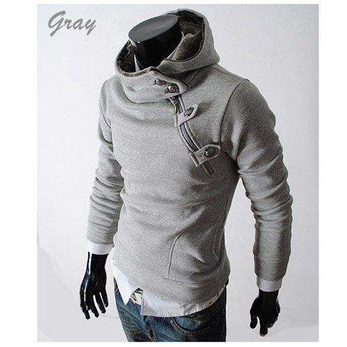 Men's casual Hoodies Sweatshirt cotton coat winter outerwear ...