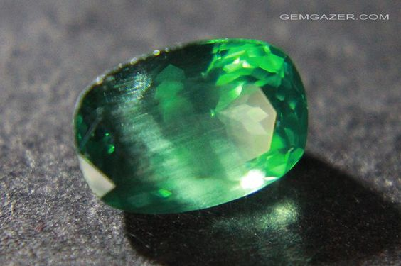Apatite, green faceted, Madagascar.  1.72cts