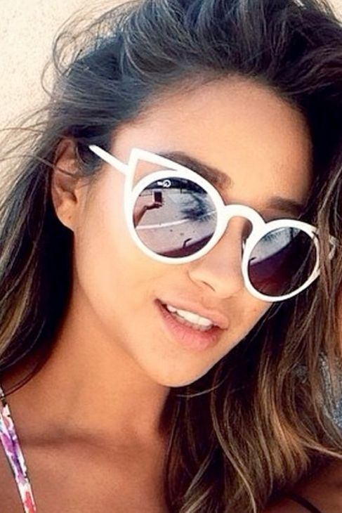 Quay Eyeware Invader Sunglasses in White | Shay Mitchell Style
