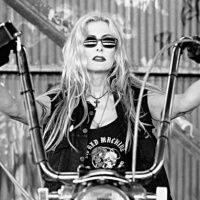 Goth Girl - San Francisco icon and the founder of the famous Devil Dolls Motorcycle Club