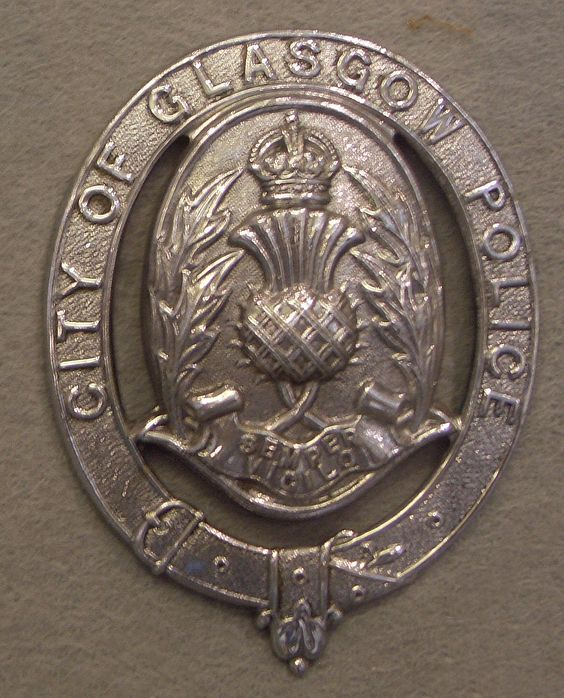 City of Glasgow Police helmet plate 1930-1952